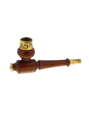 Shiva - Wood And Brass Pipe