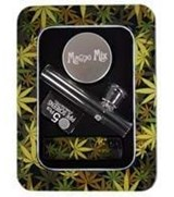 Leaf glass gift set with Magno Mix 2 part grinder