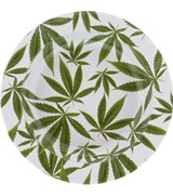 Metal Ashtray – Cannabis Leaves