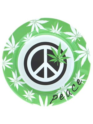 Metal Ashtray - Peace