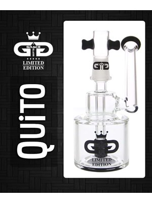 Grace Glass Quito Bubbler Black - Free